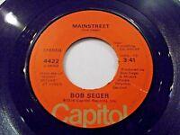 Bob Seger Mainstreet / Jody Girl 45 1976 Capitol Vinyl Record