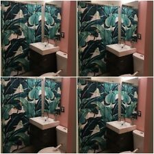 SoHo Indochine Martinique Palm Shower Curtain 80's NYC Downtown