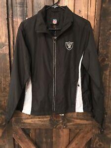 Raiders Full Zip Lightweight Windbreaker Jacket Woman's Size Medium