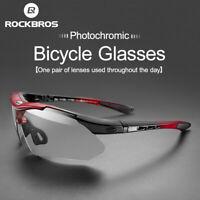 ROCKBROS Cycling Photochromic MTB Bicycle Sports Sunglasses UV400 Ultralight