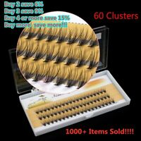 NEW Makeup False Eyelashes Mink Fur Individual Cluster Natural Eye Lashes 60Pcs
