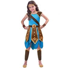 7-8y Wondrous Warrior Girls Fancy Dress Viking Greek Book Day Childs Costume