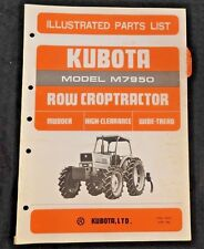 GENUINE KUBOTA M7950 MUDDER HIGH-CLEARANCE WD TREAD TRACTOR PARTS CATALOG MANUAL