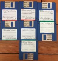 Mixed Lot Vintage 1990s Software Installation 3.5 Floppy Disks For Macintosh Mac