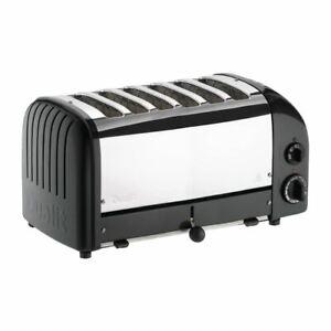Dualit Bun Toaster 6 Bun in Black 61020 with 6 Slots - Power - 1.5kW