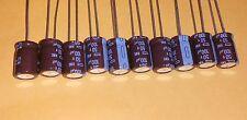 Lot of 10  Nippon KME 100uF 50V Radial Electrolytic Capacitors