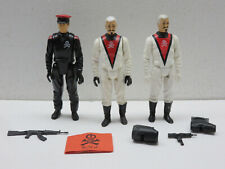BARON IRONBLOOD X 2 BLACK WHITE VARIANT RED SHADOWS ACTION FORCE GI JOE MAJOR