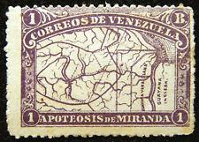 Venezuela Stamp 1896 1b Map of Venezuela Scott # 141 MINT OG H