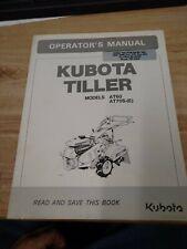 Original Oem Kubota At 60 At70s Tiller Manual J 2142