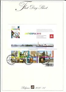 [FDS307] Belgium FDS 2010-01 Antverpia 2010 Architecture First Day Sheet SUPERB