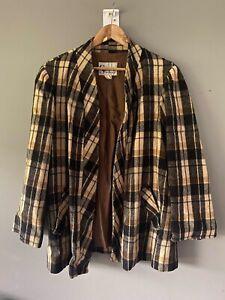 SANRO Wool Jacket/coat Size 18 Vintage Check Casual Workwear