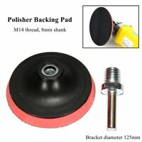 5'' Rubber Backing Pad 125mm With M14 Drill Thread For Angle Grinder Sander Disc