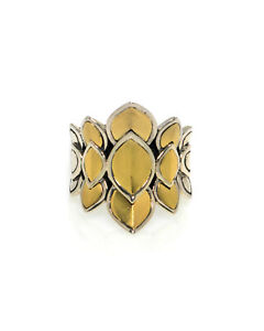 John Hardy Legends Naga Sterling Silver And Gold Ring Sz 7 RZ60123BHX7 MSRP $895