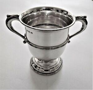 Antique sterling silver small twin handle Trophy Cup c 1925 Birmingham U.K.