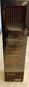 Viviscal Volumizing Hair Filler Fibers Men Conceal & Densify Dark Brown 0.53OZ