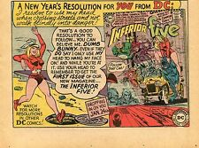1967 small Print Ad of DC Inferior Five #1 Comic a new year's resolution