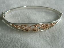 Clogau Sterling Silver & 14ct Rose Gold Tree of Life Bangle RRP £440.00