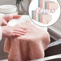 12 Stück Putzlappen Reinigungstücher Geschirrtuch Küchentuch Glaspoliertuch