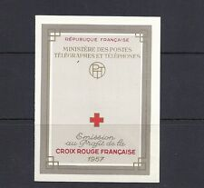 FRANCE 1957 RED CROSS BOOKLET complete (Sc B318a) VF MNH fresh