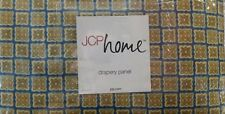 "NEW JCPenney JESSEY COTTON PRINT LINED Rod Pocket Curtain Drapery Pair 84""L"