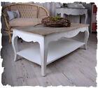 Table de salon style maison de campagne blanc Table d'appoint basse en table