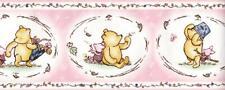 Disney Winnie The Pooh & Friend Piglet Pink Nursery Children Wallpaper Border