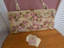 Vtg Mod SOURE' New York Handbag Purse W/ Original Mirror