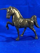 "Vintage Brass Unicorn Figure - 5"" Tall - Collectible"