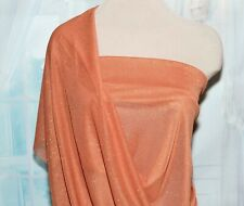 Stretch Power Mesh Chiffon Glittered Orange Dance Skate Costume By The Yd