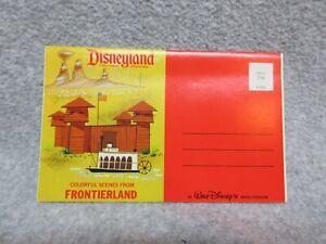 1960's Disneyland FRONTIERLAND 2nd Version POSTCARD BOOKLET 12 Views Unused