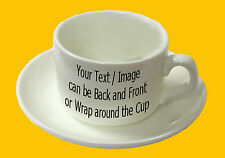 Cup and Saucer Set  - Custom Printed with your personalised design !