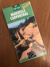 IGN FRANCE 2000 COLORED CONTOURED PAPER MAP of Marseille Carpentras No. 67