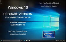 Win 10 UPGRADE from Win 7 / 8 - DVD with Microsoft Software - Legal Licence