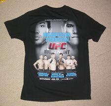 UFC Henderson/THOMSON Chicago sur Fox 10 Chemise Large Jujitsu Muay Thai MMA Gym Neuf
