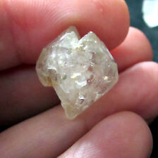 """Gemmy Quartz Twin Beta Crystal ET Elestial Errachidia Morocco 15x15x10mm 5/8""""#11"""