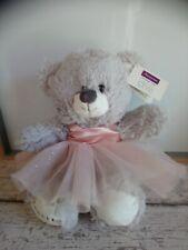 Peluche ours gris robe tutu rose danseuse Repetto Paris Marionnaud 32 cm neuf