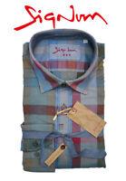 SIGNUM HEMD Rugged Freizeithemd Kariert Langarm Slim Fit 151610 Shirt Gr. S-XL