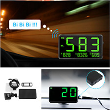 Green Speed Display GPS Speedometer HUD MPH & KM/h Plug & Play Overspeed Warn