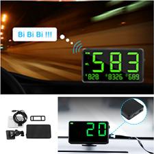Green Speed Display GPS Speedometer HUD MPH & KM/h Plug & Play Overspeed Warn