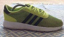 adidas Lite Racer Solar Yellow UK8/US8.5 9/10 Condition