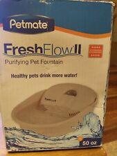 Petmate Fresh Flow Ii Purifying Pet Water Fountain ~ 50 oz ~ Beige Linen ~
