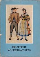 Deutsche Volkstrachten, mit farbigen Zeichnungen, Alfred Fiedler 1954