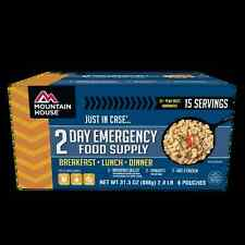 Mountain House Just In Case 2-Day Breakfast Lunch Dinner Freeze Dried Meal Kit