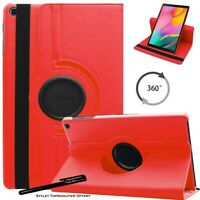Housse Etui Rouge pour Samsung Galaxy Tab A 10.1 2019 T510 Support Rotatif 360°