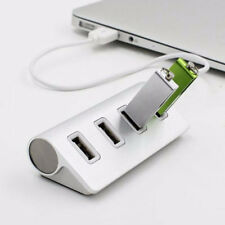 4-Port USB 2.0 Multi HUB Splitter Aluminum Adapter High Speed For PC Mac LOT TF