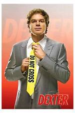 Dexter Do Not Cross 24x36 Poster Blood Splatter Pattern Analyst Serial Killer TV