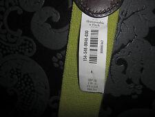 Abercrombie & Fitch A&F Ceinture taille XS/S Marron/Vert avec étiquette
