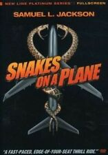 SNAKES ON A PLANE (DVD) Very scary And Funny/Used dvd/FREE RAPID SHIPPING