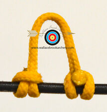 3 Pack Yellow Archery Release Bow String Nock D Loop Bowstring BCY #24