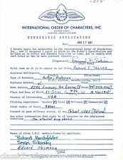 Raymond F. Toliver Signed Document WWII Aviation
